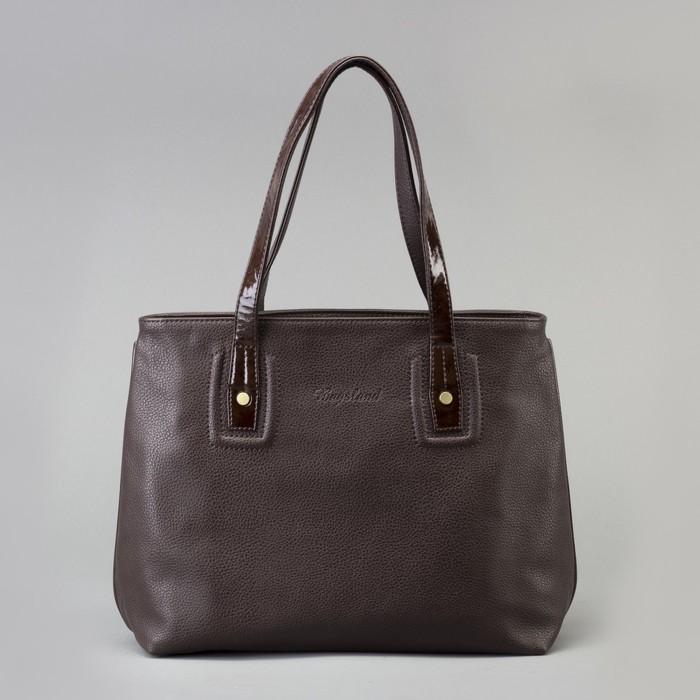 Сумка женская, 1 отдел на молнии, наружный карман, цвет коричневый