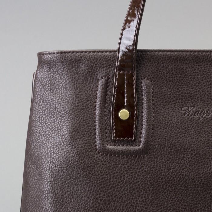 Сумка жен В2337, 41*13*26, 1 отд на молнии, н/карман, коричневый