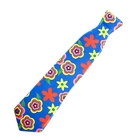 "Carnival tie, ""Summer flowers"", frosted, set of 6 PCs"