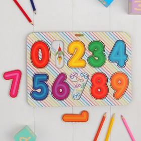 Рамка-вкладыш «Изучаем цифры 2», крашенная