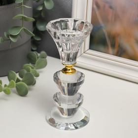 """Glass candle holder 1 candle """"Vase with lens"""" 12 x 5,6x5,6 cm"""