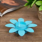 "Metal candle holder 1 candle ""Bright flower"" MIX 3x12,5x12,5 cm"