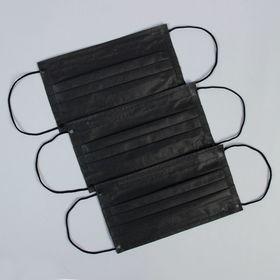 Маска медицинская четырёхслойная черный цвет
