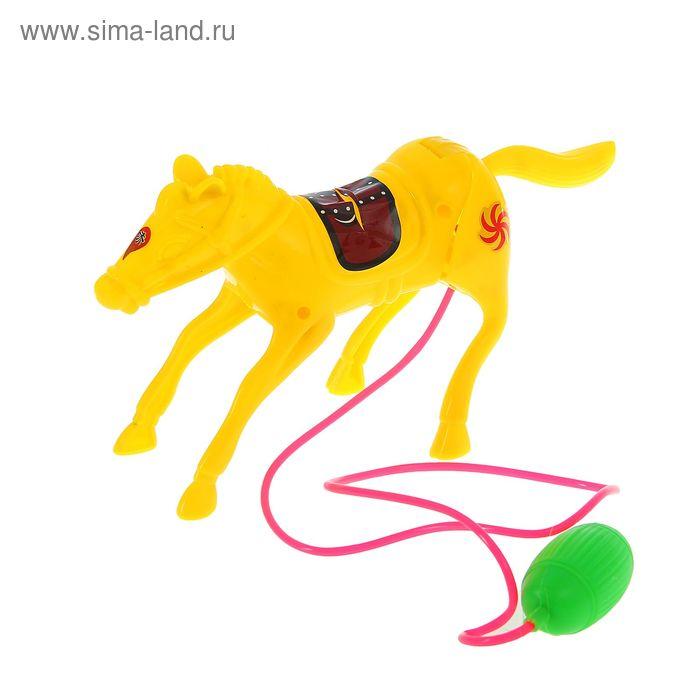 """Прикол прыгающий """"Конь с седлом"""", цвета МИКС"""