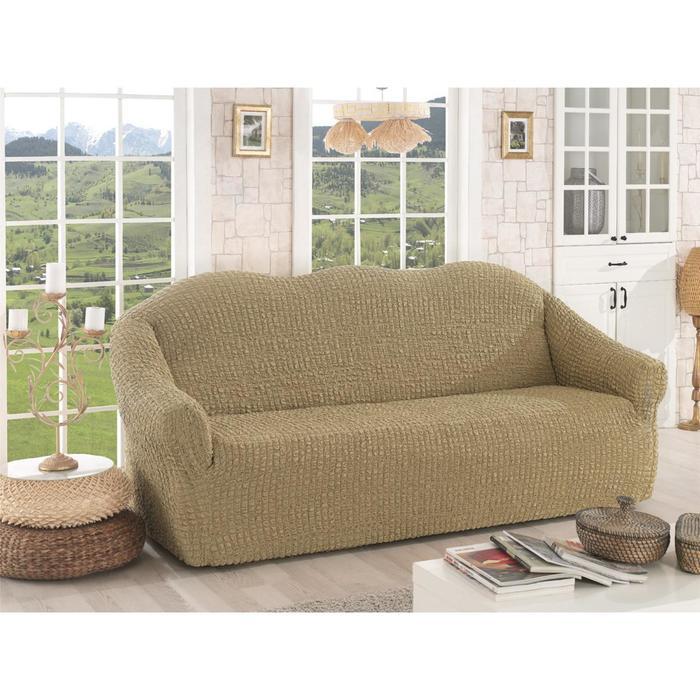 Чехол для трёхместного дивана Karna, без юбки, цвет бежевый 2652