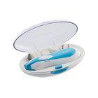 Маникюрный набор DELTA DL-0750, 3 Вт, 2 скорости, 6 насадок, голубой
