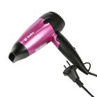 Фен DELTA DL-0904,  1400 Вт, 2 режима, складн. ручка, черно-розовый