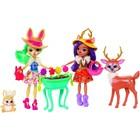 Игровой набор Enchantimals: две куклы с лесными друзьями, МИКС