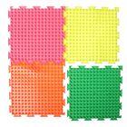 Массажный коврик 1 модуль «Орто. Шипы мягкие», флуоресцентный, цвета МИКС