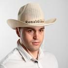 Шляпа ковбой плетеная Ronaldiho, цвета МИКС