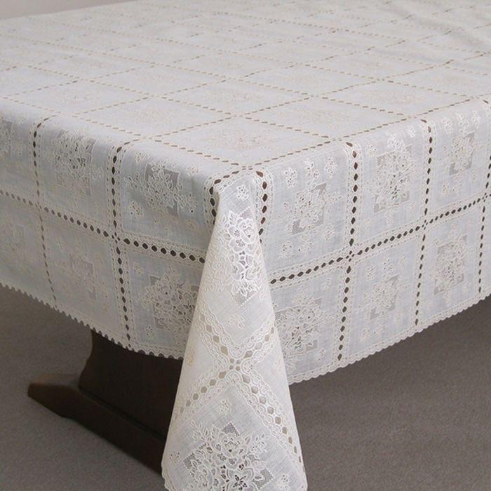 Клеёнка столовая «Ажурная», 138 см, рулон 15 пог. м., цвет сепия/белый