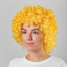 Карнавальный парик «Объёмный», цвет жёлтый, 120 г