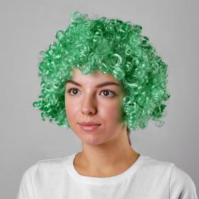 Карнавальный парик, объемный, цвет зелёный