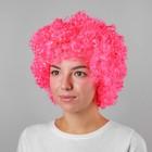 Карнавальный парик объёмный, р-р 56-58, цвет розовый