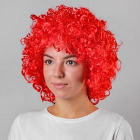 Карнавальный парик, объёмный, цвет красный