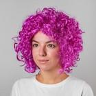 """Карнавальный парик """"Объёмный"""", цвет фиолетовый, 120 г"""