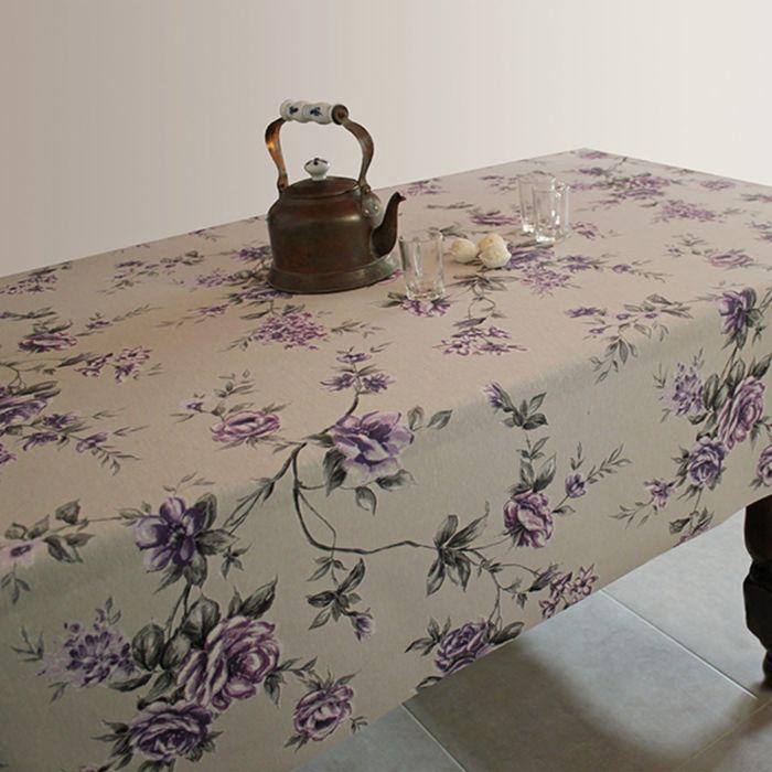 Клеёнка столовая Alba «Вальс цветов», 140 см, рулон 20 пог. м., цвет фиолетовый