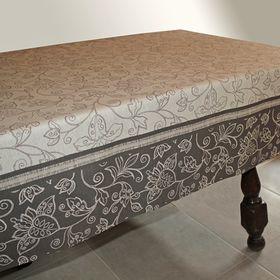 Клеёнка столовая Alba «Уни», 140 см, рулон 20 пог. м., цвет серо-бежевый