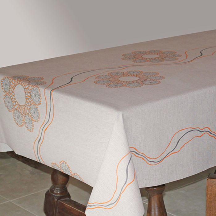 Клеёнка столовая Alba «Верди», 140 см, рулон 20 пог. м., цвет бежевый