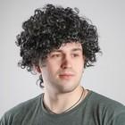 Карнавальный парик объёмный, обхват головы 56 см, цвет чёрный