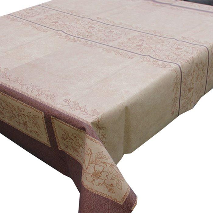 Клеёнка столовая Meiwa, 137 см, рулон 20 пог. м., цвет коричневый