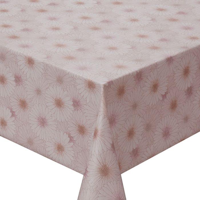 Клеёнка столовая Meiwa, 137 см, рулон 20 пог. м., цвет розовый