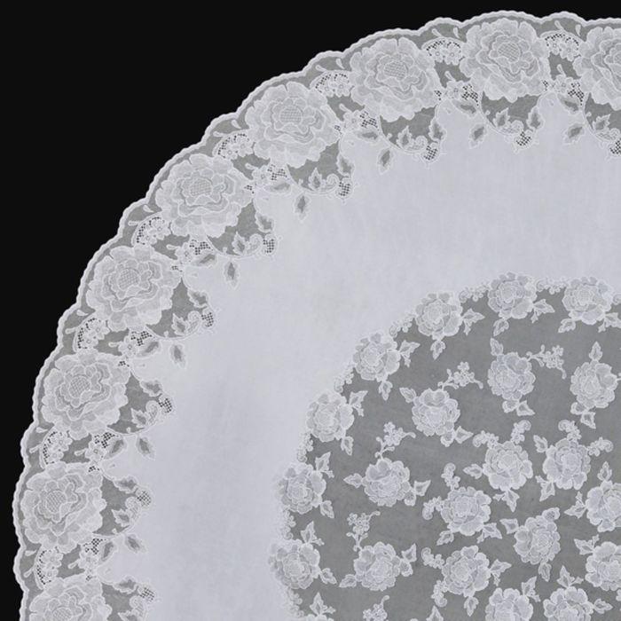 Скатерть столовая «Ажурная» Dia Rose, d=152 см, 10 шт в рулоне, цвет белый