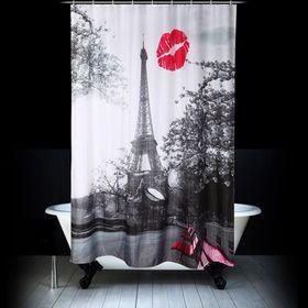 Штора для ванной «Поцелуй», 180 х 200 см
