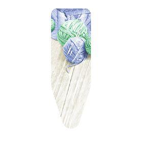 Чехол для гладильной доски «Клубки пряжи», синий/зелёный, 130х50 см, хлопок