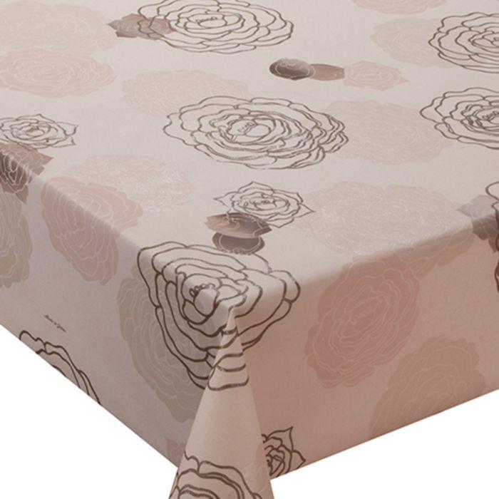 Клеёнка столовая Meiwa, 140 см, рулон 20 пог. м., цвет розовый