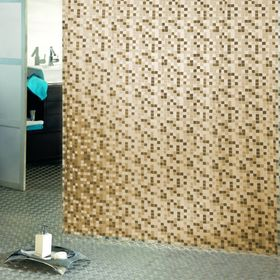 Штора для ванной Mosaico, 180 х 200 см, цвет бежевый