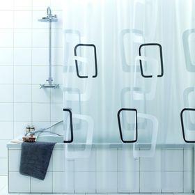 Штора для ванной Bacchetta Quadry nero, 180 х 200 см