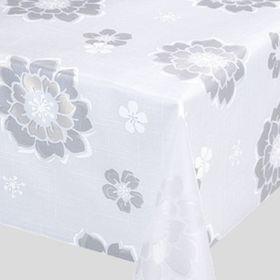 Клеёнка столовая Meiwa, 130 см, рулон 20 пог. м., цвет белый