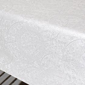 Клеёнка столовая Polyline «Поларис», 140 см, рулон 15 пог. м., цвет белый