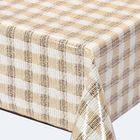 """Клеенка столовая """"Meiwa"""" M-722 BE, 135 см, рулон 20 п.м., бежевый"""