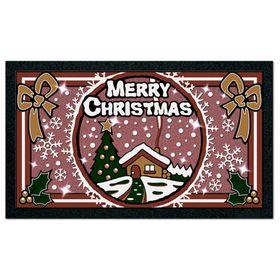 Коврик придверный Format Glitter «Рождество», 40 х 68 см