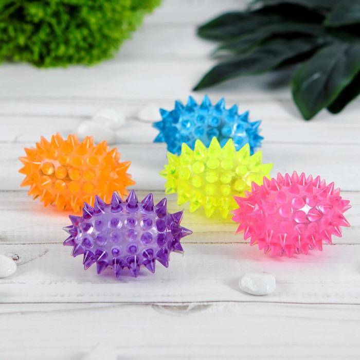 Мяч световой «Ёжик регби», цвета МИКС