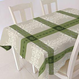 """Скатерть ALBA """"Анет"""", 120х140 см, зелёный"""