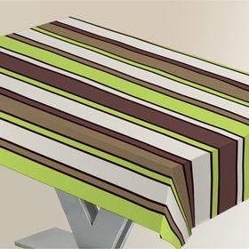 """Скатерть """"ALBA"""" Линии, 120х140 см, зеленый"""