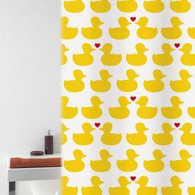 Штора для ванной Bacchetta Bath Duck, 180 х 200 см, цвет жёлтый