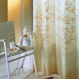 Штора для ванной Canneto, 180 х 200 см, цвет коричневый