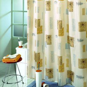 Штора для ванной Contrasti, 180 х 200 см, цвет бежевый