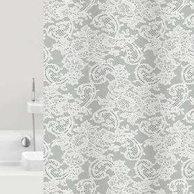 Штора для ванной Dantelle, 180 х 200 см, цвет серый