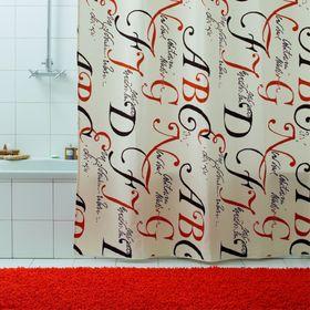 Штора для ванной Lettere, 180 х 200 см