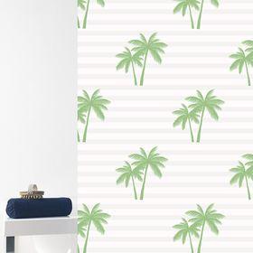 Штора для ванной Palme, 180 х 200 см, цвет зелёный