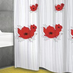 Штора для ванной Papavero, 180 х 200 см