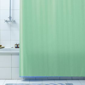 Штора для ванной Rigone, 180 х 200 см, цвет зелёный