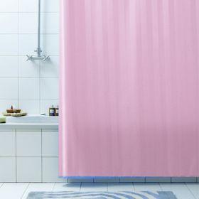 Штора для ванной Rigone, 180 х 200 см, цвет розовый