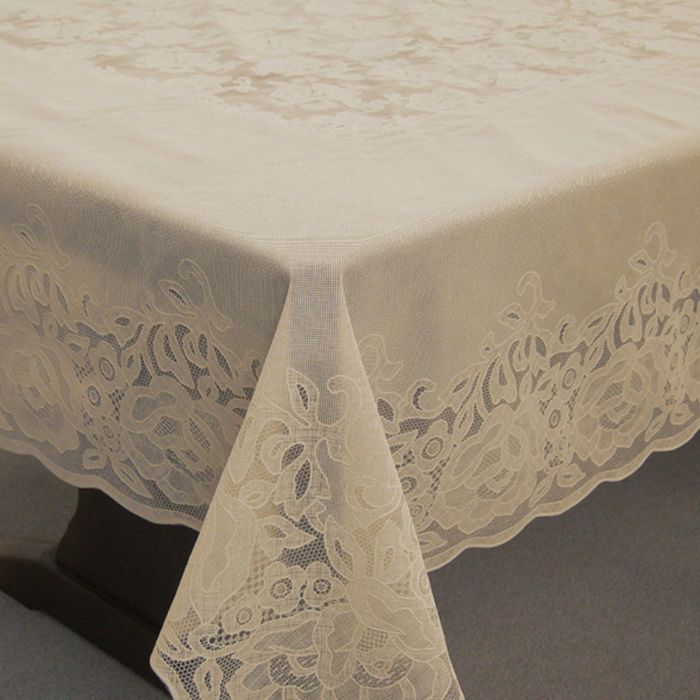 Скатерть столовая «Ажурная» Gloria, 152 х 228 см, 10 шт в рулоне, сепия