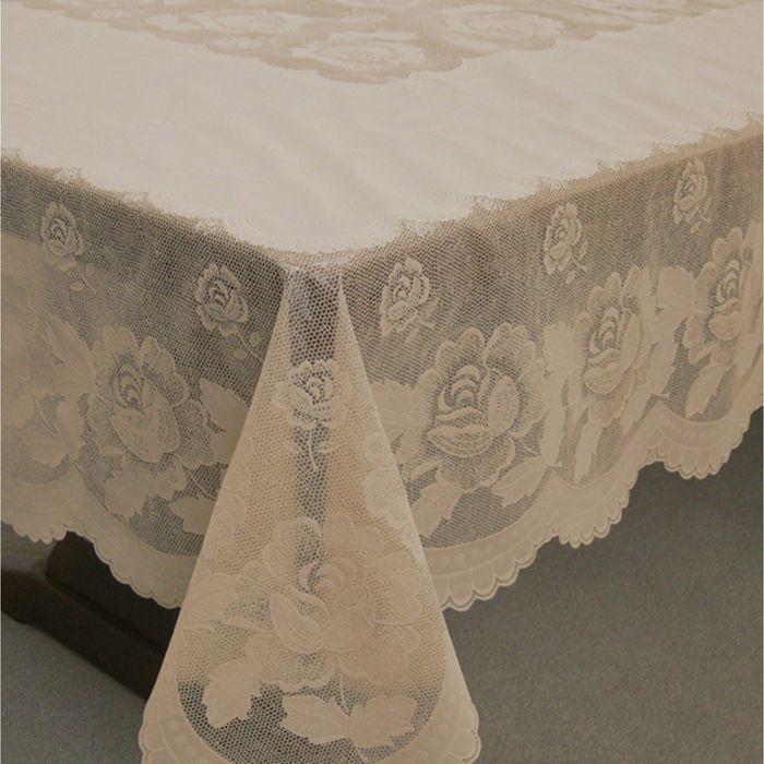 Скатерть столовая «Ажурная» Queen Rose, 152 х 228 см, 10 шт в рулоне, сепия